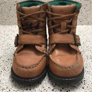 Toddler polo boots light brown size 8